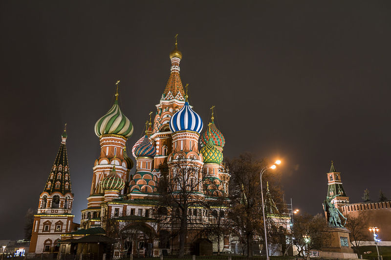 St basil cathedral in moscow and kremlin
