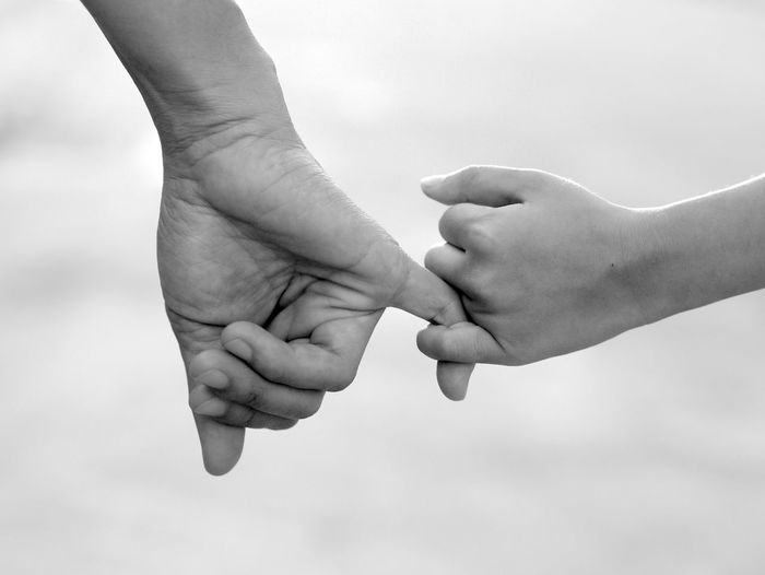 hand in hand Adult Baby Bonding Care Childhood Close-up Communication Connection Day Human Body Part Human Finger Human Hand Love Men Oath Outdoors People Positive Emotion Sky Teamwork Togetherness Two People Unity Women