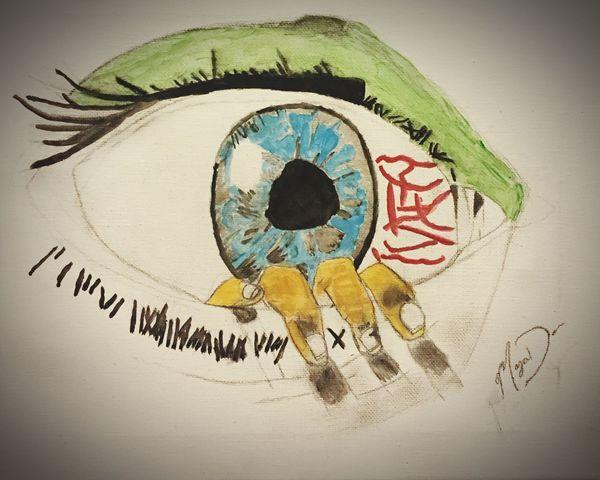I drew this🖌 I Drew This Something I Drew Art ArtWork Eye Hand Paint