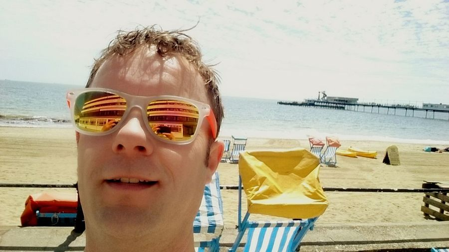 Selfie Sunglasses Reflection On The Beach Sun Porn