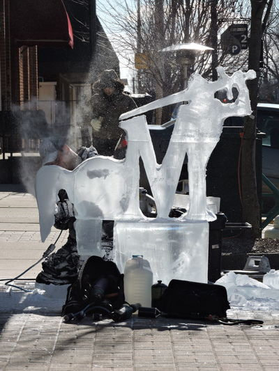 Fire and Ice Festival Adult Adults Only Artist At Work Cold Temperature Day Ice Sculptures One Man Only One Person Only Men Outdoors People Snow Winter