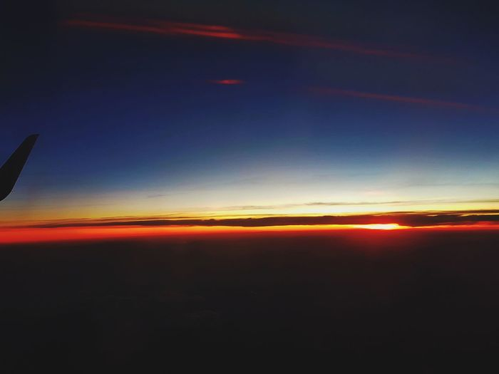 Sunset🌅 Sunset Fromplanewindow Lifestyles Taking Photos Travel Destinations Explore The World Hello World Enjoying Life Vacations Day Beauty In Nature Nature Sky Multi Colored Travel