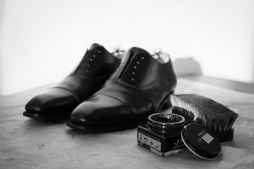 Business Cleaning Fashion Old Fashioned Oxford Blackandwhite Close-up Day Dress Shoe Indoors  Mens Shoes Mensfashion Newspaper No People Pair Polishing Shoe Shoes Shoeshine Table
