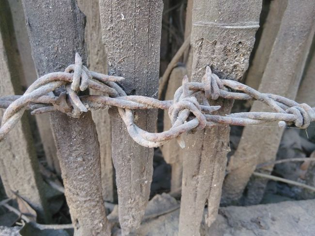 Security Safety Protection Fence Metal Close-up Tied Up Strength Day Durability Outdoors No People Chain Tied Tangled