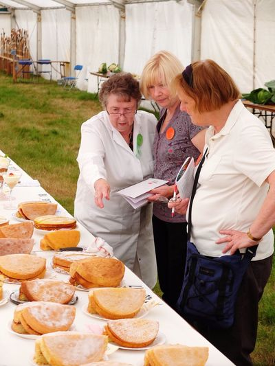 Country Show Judge Sponge Cake Marquee Countryside Country Life