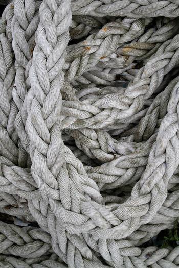 Full frame shot of tangled rope