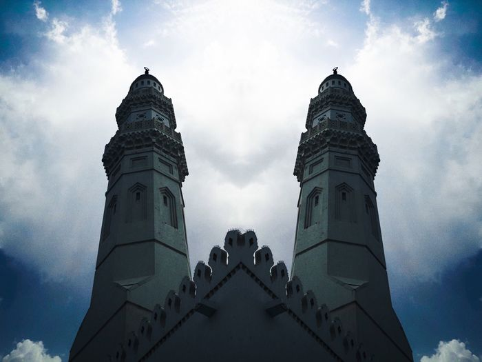 Low Angle View Sky Architecture Built Structure Cloud - Sky Building Exterior Nature Religion Spirituality Belief Building Place Of Worship