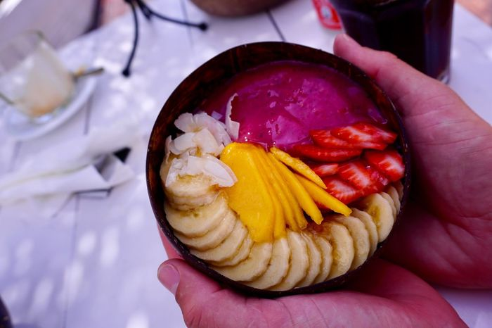 Very nice breakfast Nalubowls Food And Drink Food Hand Human Hand Freshness Human Body Part My Best Travel Photo Healthy Eating Fruit Lifestyles