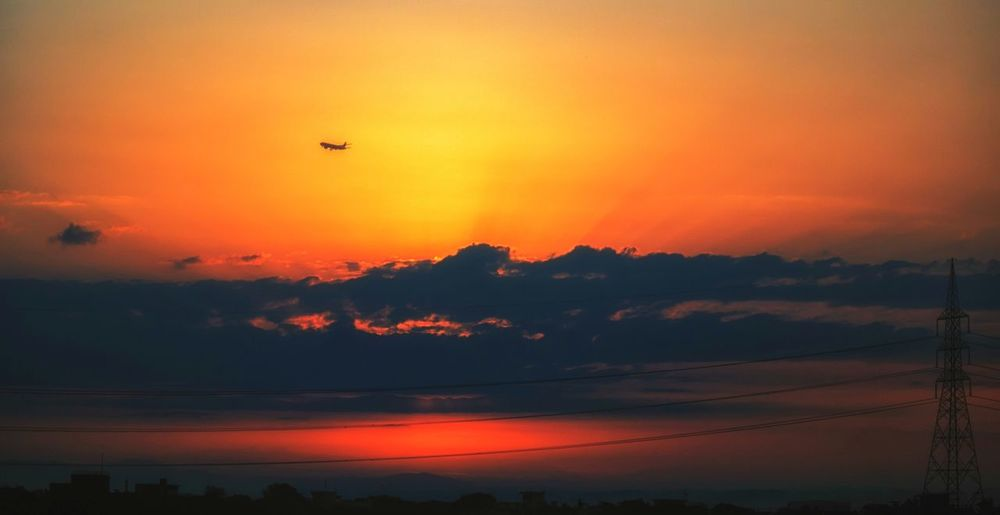 """A journey, a dawn, a new beginning"" Sunset Flying Orange Color Mid-air Outdoors Sky Nature No People Travel Scenics Air Vehicle Beauty In Nature Hot Air Balloon Landscape Airplane Tree Day Bird Sunrise_sunsets_aroundworld Aeroplane Minimalism Silhouette Orange Sky Florida Sky Scapes & Escapes"