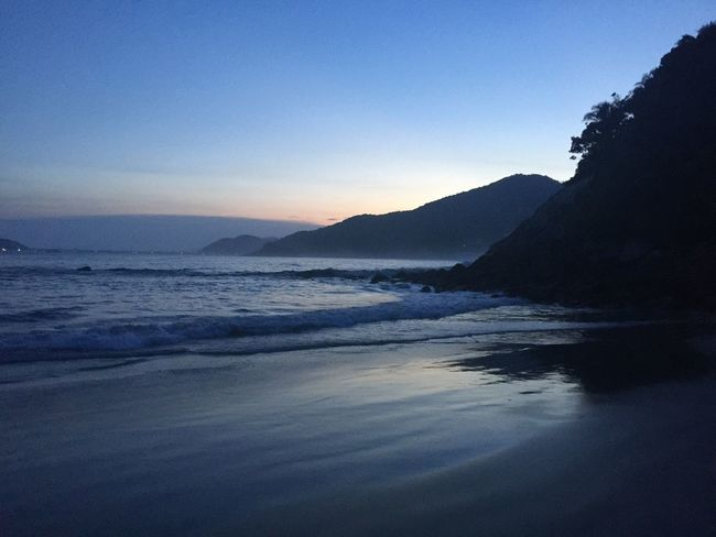No filter Beauty In Nature Water Blue Sea Mountain No People Outdoors Nature Tranquility Sunset Tranquil Scene