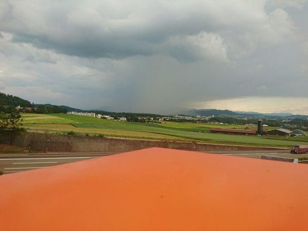 Landscape Storm Cloud Cloud - Sky Outdoors Nature Scenics Day Storm View HJB Mobil Sony Xperia Z5 Compact Horizon View Bern, Switzerland Grauholz Orange Color