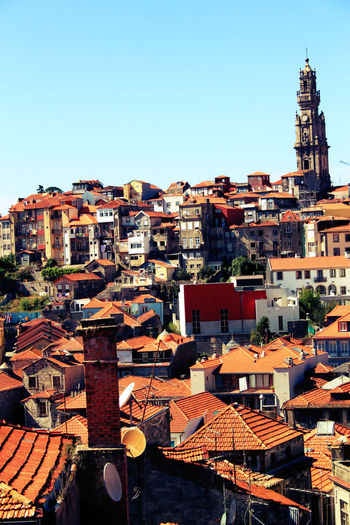 Architecture Building Building Exterior Buildings Built Structure Chimney City City Life Colors Crowded Day Development House Outdoors Porto Portugal Roof Roof Shingles Sky Torre Torre Dos Clérigos Tower Town Window