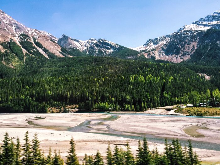 Scenic View Of Mountain At Yoho National Park