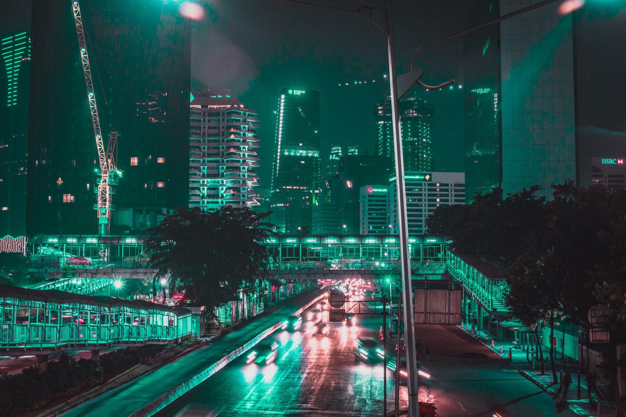 ILLUMINATED CITY STREET