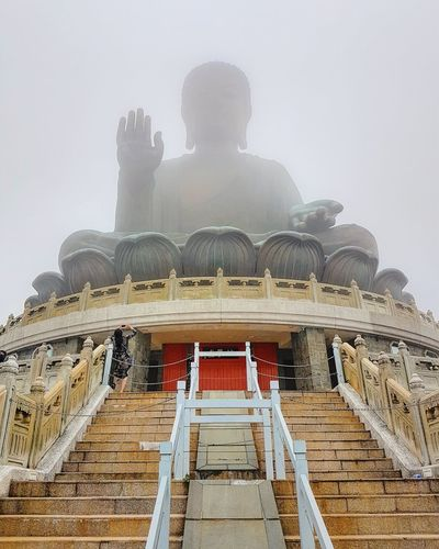 Steps Architecture Built Structure Sky Weathered Temple - Building Temple Day Igerspakistan Vacation Life Leisure Activity PhonePhotography Famous Place Photography Photographer Explore The World Travel Destinations Tourist Blessed Life Holiday Journey Letsexplore Lantau Island HongKong