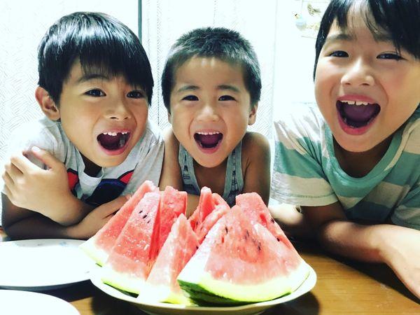 Love Dear Son Son Watermelon Watermelon🍉 Summer Hi! Cheese! Cheese! EyeEm EyeEm Best Shots Enjoying Life Japan LOL! あーん スイカ むすこ 息子
