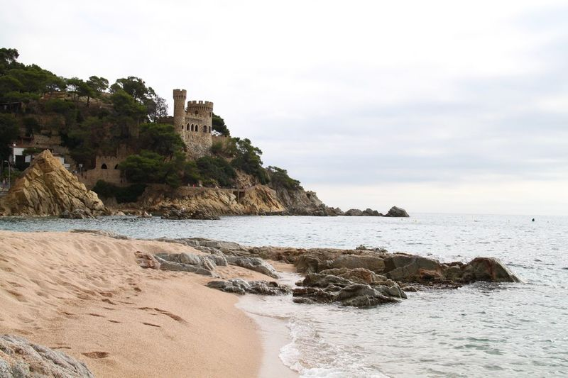 Beach Castle Catalunya Coastline Horizon Over Water Landscape Lloret De Mar Lloret De Mar Beach Nature Nature No People Outdoors Sand Scenics Sea Sky SPAIN Travel Destinations Vacation Vacations Water