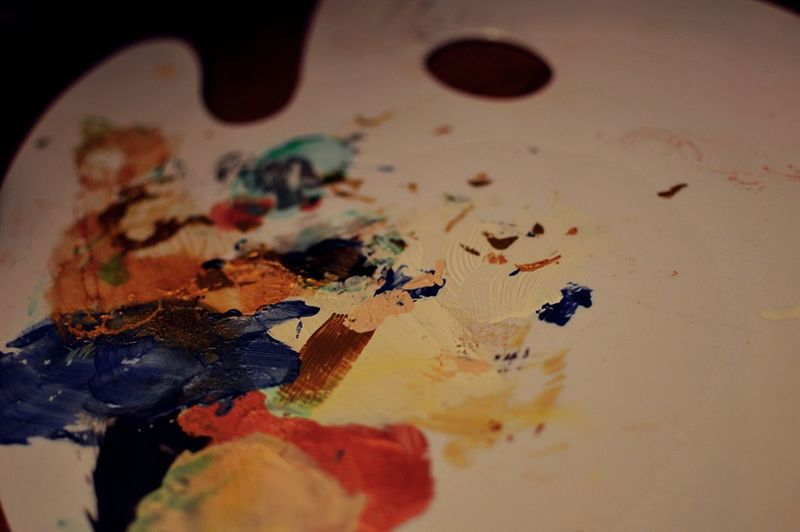 Art Paint Dry Pain Colors Colorful Macro Beauty