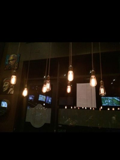 Illuminated Night Lighting Equipment No People Low Angle View Architecture Indoors  Built Structure Hanging Building Exterior City Close-up Photography Fun Love ♥