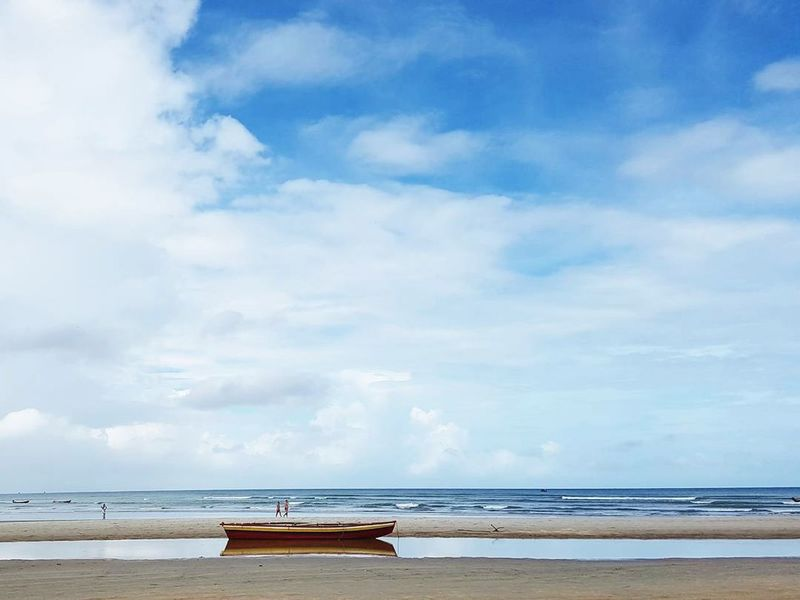 Jericoacoara, Brasil Sea Beach Cloud - Sky Horizon Over Water Water Travel Destinations Vacations Dramatic Sky Summer Landscape Jericoacoara Brasil Brazil Bresil  Sunlight Nautical Vessel