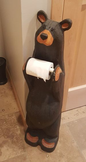 Home Interior Indoors  Bathroom Pics Taking Photos Toilet Roll Holder Bathroom Bear No People