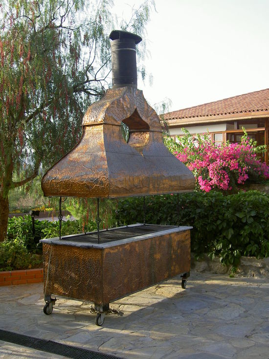 Barbecue Charcoal Grill Copper  Day Food Grill Outdoors ızgara