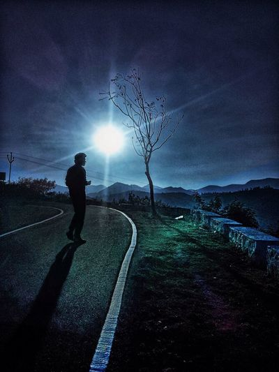 Trip to #Ootty with Imad Glowing Lens Flare Mountain Nature Road Shadow Sky Sun Sunlight Internet Addiction