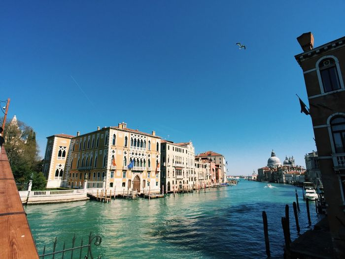 Venice grand canal, palaces and perspective