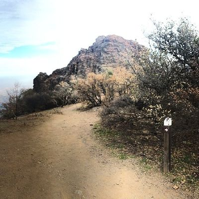 Pulpit Rock... much more ominous and foreboding in person that it appears here... MtDiablo Summit