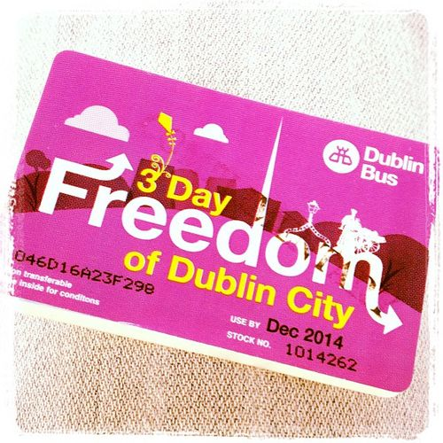 Thanks for the ticket!!! So happy! #tbex Hoponhopoff Dublinbus Freedompass Dublinbustour Sightseeing Sightseeingbus Travel Xpresso Dublin Airlink Bus 3dayfreedomofdublincity Ticket Reisen Travelblog Travelblogger Lovedublin Tbex