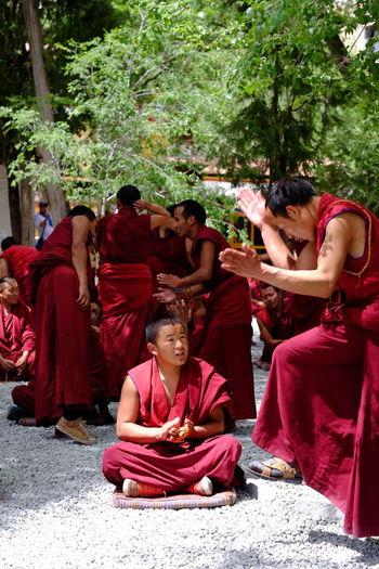 Lhasa, Tibet The Sera Monostery Portrait Color Portrait