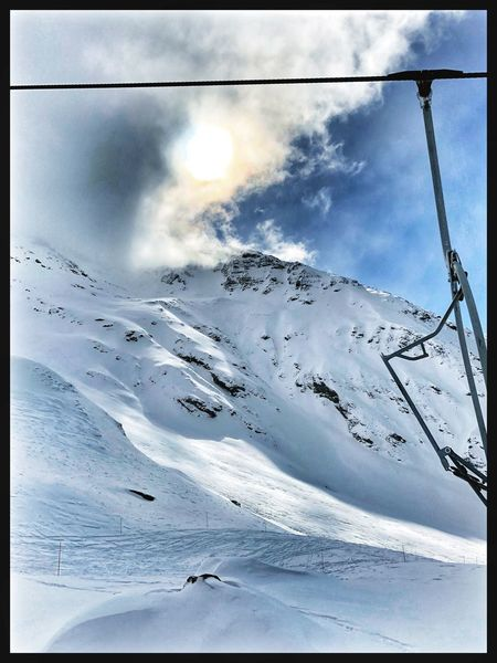 Snow Winter Cold Temperature Beauty In Nature Nature Scenics Weather Mountain Tranquility Sky Outdoors Snowcapped Mountain Landscape Mountain Range Ski Holiday Cloud - Sky Ski Lift