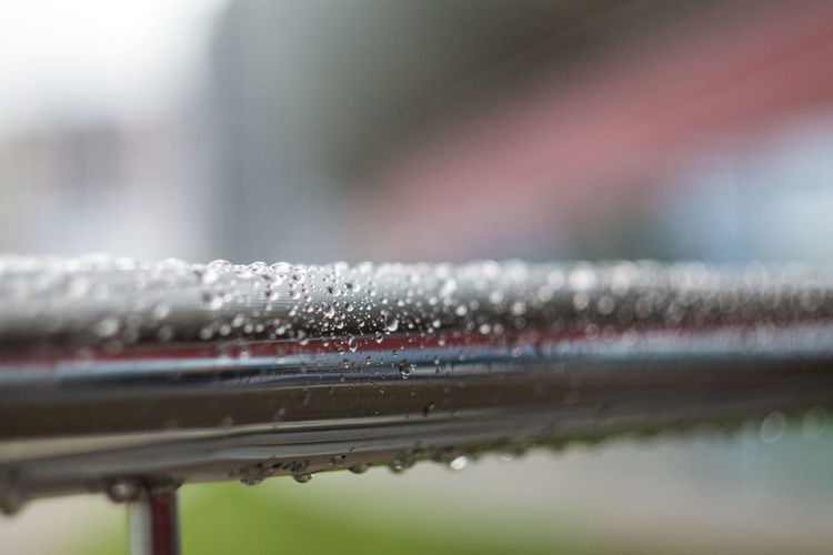 Close-up Cold Temperature Day Drop Focus On Foreground Metal Nature No People Outdoors Railing Rain RainDrop Selective Focus Water Wet