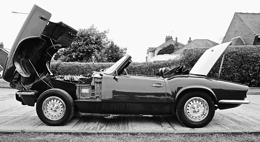 She's looking well for a 40 year old. Vintage Cars Classic Car 70s Classic Triumph Spitfire Triumph British Leyland Vintage