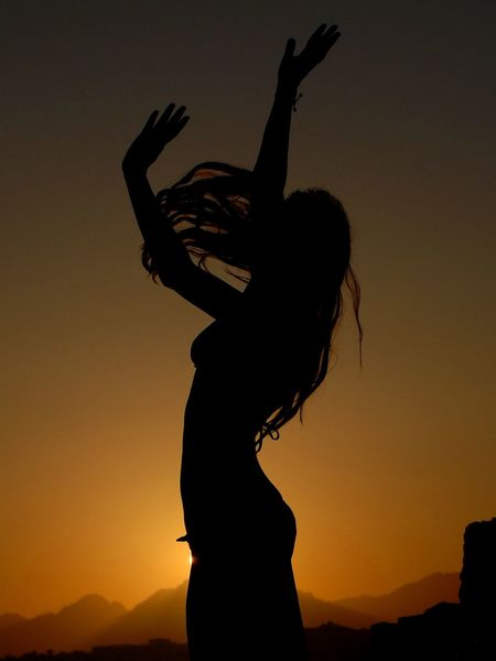 Sunset silhouette Black And Orange Dancer Dancers Girl Girl Silhouette Lifestyle Orange And Black Silhouette Silhouette_collection Silhouettes Sunset Sunset Silhouettes Sunset_collection Sunsetporn Woman Portrait 43 Golden Moments