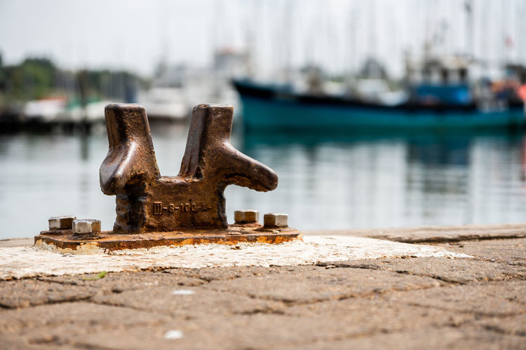 just a little rusty anchor point. sometimes you need to get down and dirty to get these shots Ship Boat Marine Port Water Beach Close-up Sky Rusty Deterioration Anchor - Vessel Part Anchored