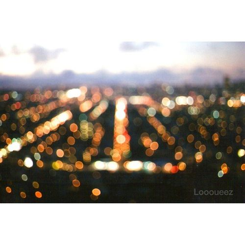 Blurred P.O.V. I am so happy with this photograph. I got the effect that I was trying to capture. 35mm Film. Loooueez Sanfrancisco BernalHeights Citylights