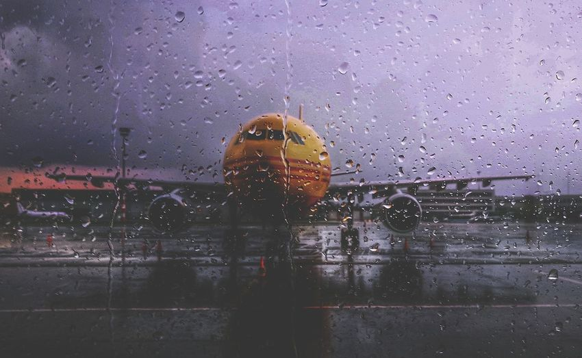 Hungary Budapest Ferihegy Airport Apron Aviation Aviationphotography Aviation Photography Aircraft Plane Airbus Airbus A330 Dhl DHL Express Stormy Sky Bad Weather