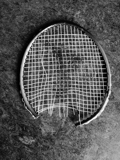 High Angle View No People Pattern Day Close-up Badminton Badminton Racket Sore Loser Black And White Dk