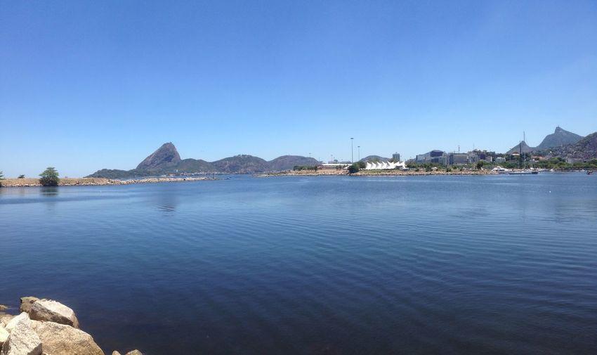 Baia Da Guanabara Pão De Açucar Marina Da Gloria Landscape Corcovado
