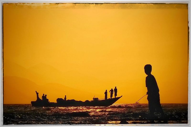 Sunset Nautical Vessel Silhouette Transportation Orange Color Sea Water Mode Of Transport Real People Nature Beauty In Nature Scenics Outdoors Men Lifestyles One Person Sky Day People Shilouette Fusherman Lombok ASIA INDONESIA Silhouette Let's Go. Together. Be. Ready. An Eye For Travel