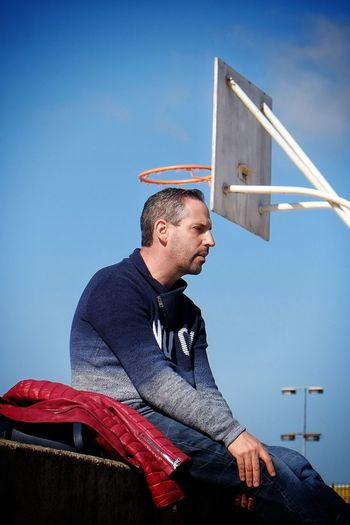 All saints. Streetphotography Street Photography Streetphoto Candid Candid Photography Leasure Clear Sky Men Occupation Mid Adult City Mid Adult Men Side View Holding Sky Sportsman Basketball Player