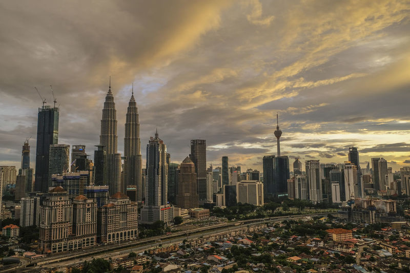 Architecture Building Exterior Built Structure City Cityscape Cloud - Sky Day Development Modern No People Outdoors Sky Skyscraper Sunset Tower Travel Destinations Urban Skyline EyeEmNewHere KLCC Twin Towers KLCC❤❤