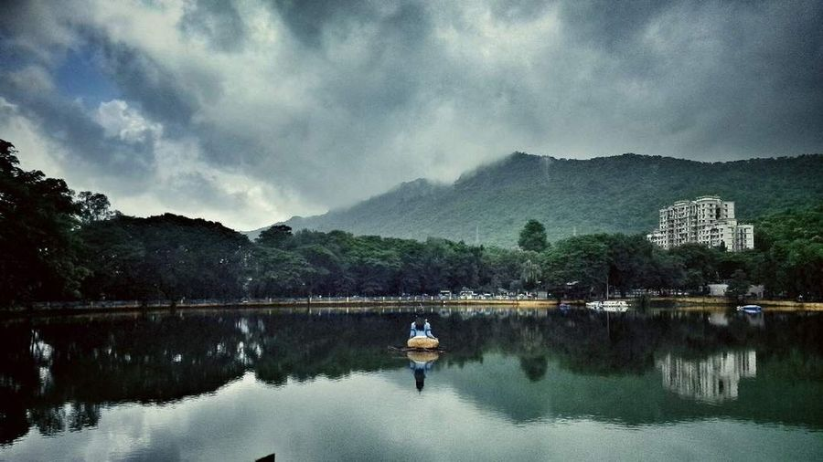 Best Dreams Happen! Landscape Tree Sky Reflection Adventure Mountain Scenics Full Length Beauty In Nature Outdoors Lake Thane Nature Travel Destinations Travel Photography Chilling Evening Enjoying Life EyeEmNewHere Freshness Nature