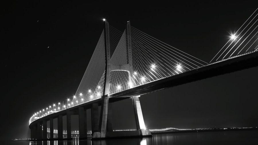 Bridge Blackandwhite Black And White Photooftheday Photography Cityscape Lisbon Lisbonne Lisboa Tejo River River Beautiful Feel The Journey Nightphotography