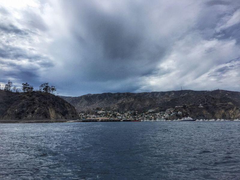 Stormy weather on Catalina island... Cloud - Sky Sea Stormy Weather Storm Cloud Waterfront Catalina Island  Catalina Water Scenics Beauty In Nature Mountain Range Island Tropical Storm Sky Seascape Atmospheric Mood Nature Weather