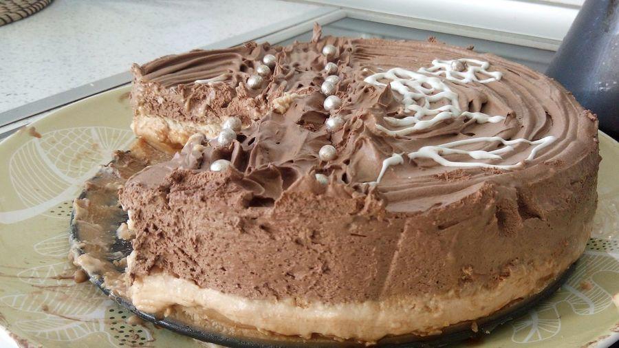 MOUSSE de chocolate, crema de galletas y caramelo. Tarta Pasteles Rico Golosos Pastel Torta Foodporn❤️