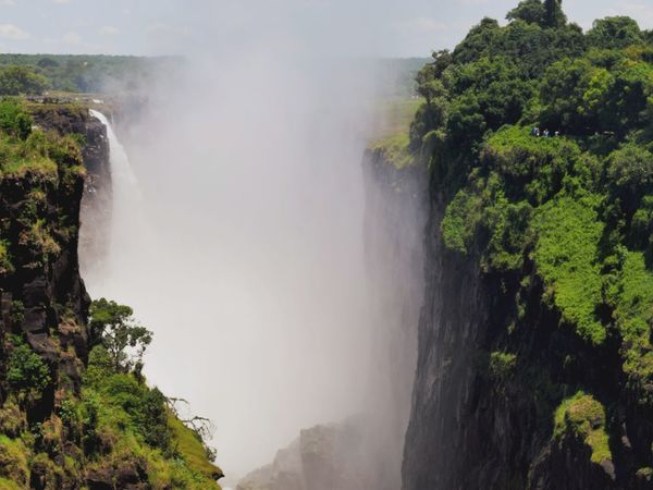Victoria Falls, Zambezi river, Zimbabwe Travel Destinations Travel Photography Travel Waterfall Victoria Falls Mosi-oa-tunya Zambezi River Zimbabwe Tree Water Waterfall Power In Nature Cliff Fog River Rapid Flowing Steep