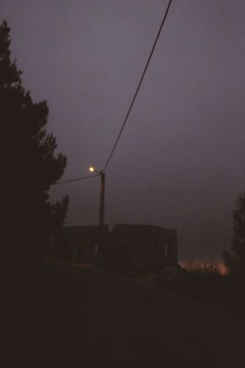 Dusk Cable Power Supply Tranquil Scene Scenics No People Power Line  Telephone Line Middle East Lebanon