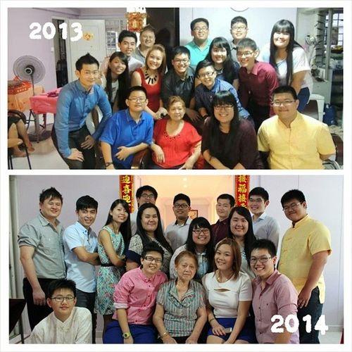 就这样的,一年也过了。我们还是那么多漂亮/那么帅气。哈哈哈!We damn poser in the lower photo sia hahahaha.